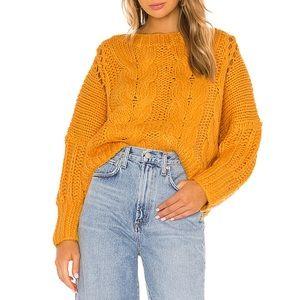 Tularosa Mustard Cable Knit Sweater